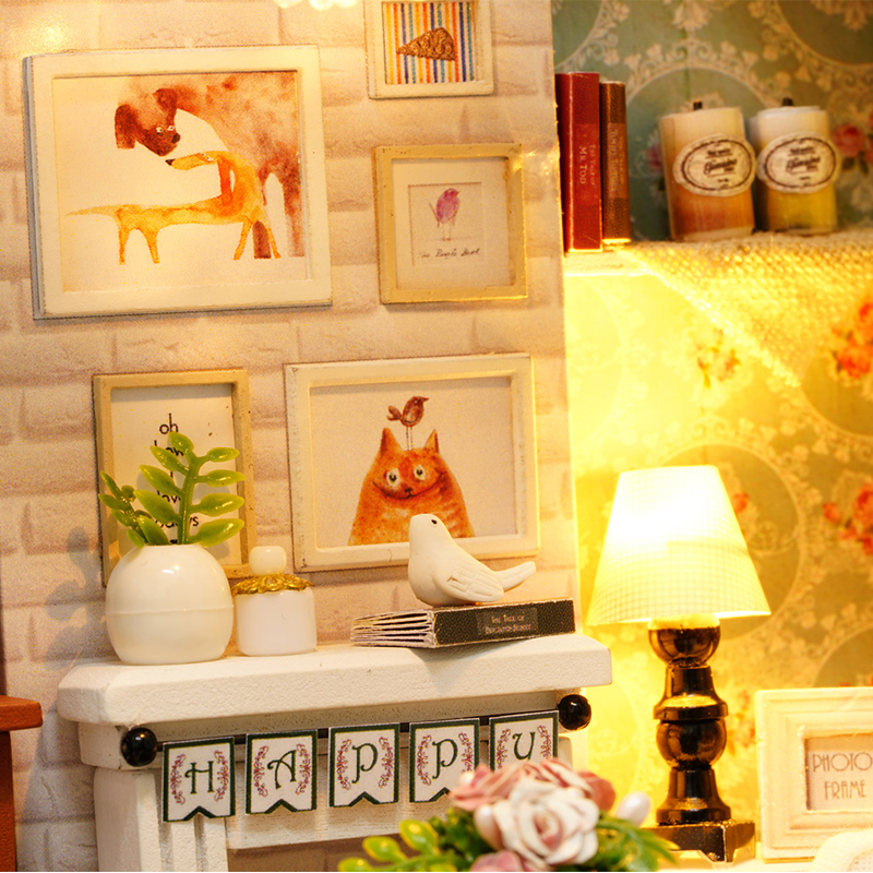 CUTEBEE-Doll-House-Miniature-DIY-Dollhouse-With-Furnitures-Wooden-House-Toys-For-Children-Gift-Happy-Times-Z008-3