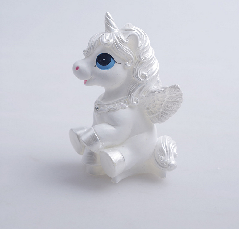 3D Cute unicorn double side acuan kuda pony sabun acuan coklat coklat