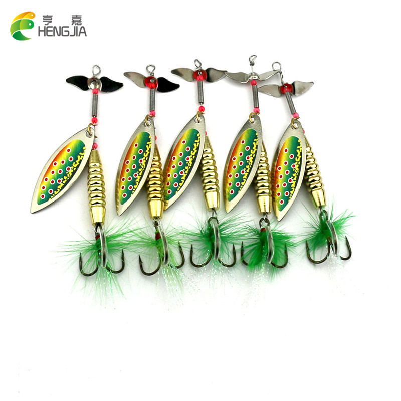 isca Atificial 2016 Hot 5PCS/lot 9.5CM-17G Spinner bait Fishing Lure Metal Spoon Lures pesca hard bait bass pike fishing tackle 1pcs fishing lure pesca mepps spinner bait spoon lures with mustad treble hooks peche jig anzuelos isca pesca hq048