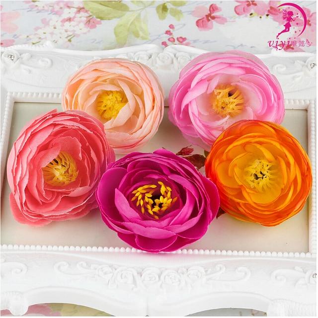 10pcs Homemade Decoration Wrist Corsages Wholesale Silk Flower Heads