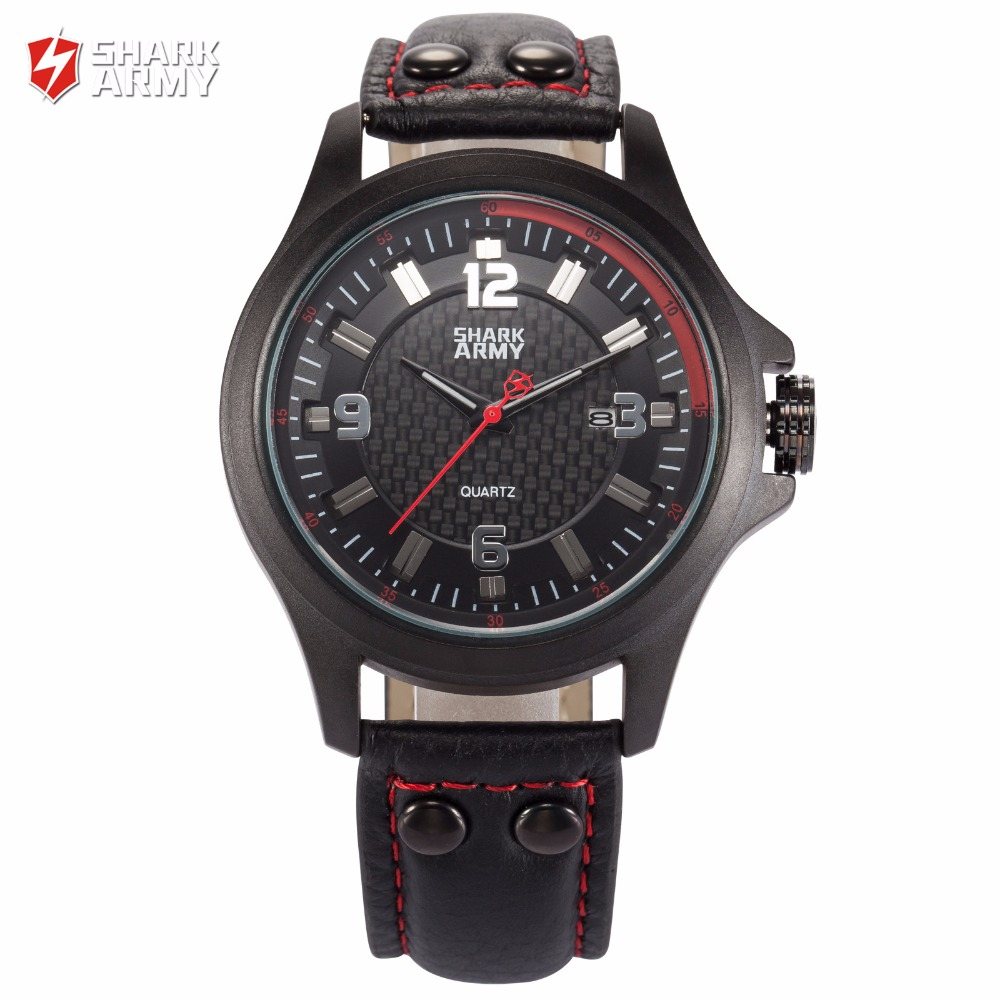 font b SHARK b font ARMY Brand New Red Black 3D Electroplate Plaid Date Display