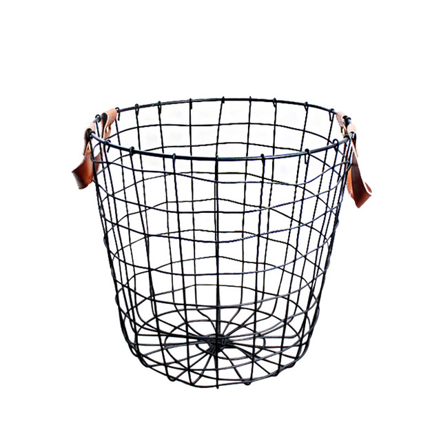 Metal Black Storage Basket Mawgie