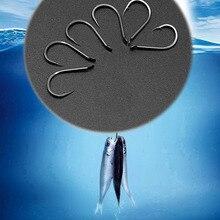 100Pcs Fish Hook Sharpened Hooks Jig Big Baitholder Carp Fly Fishing Tackle Fishhook