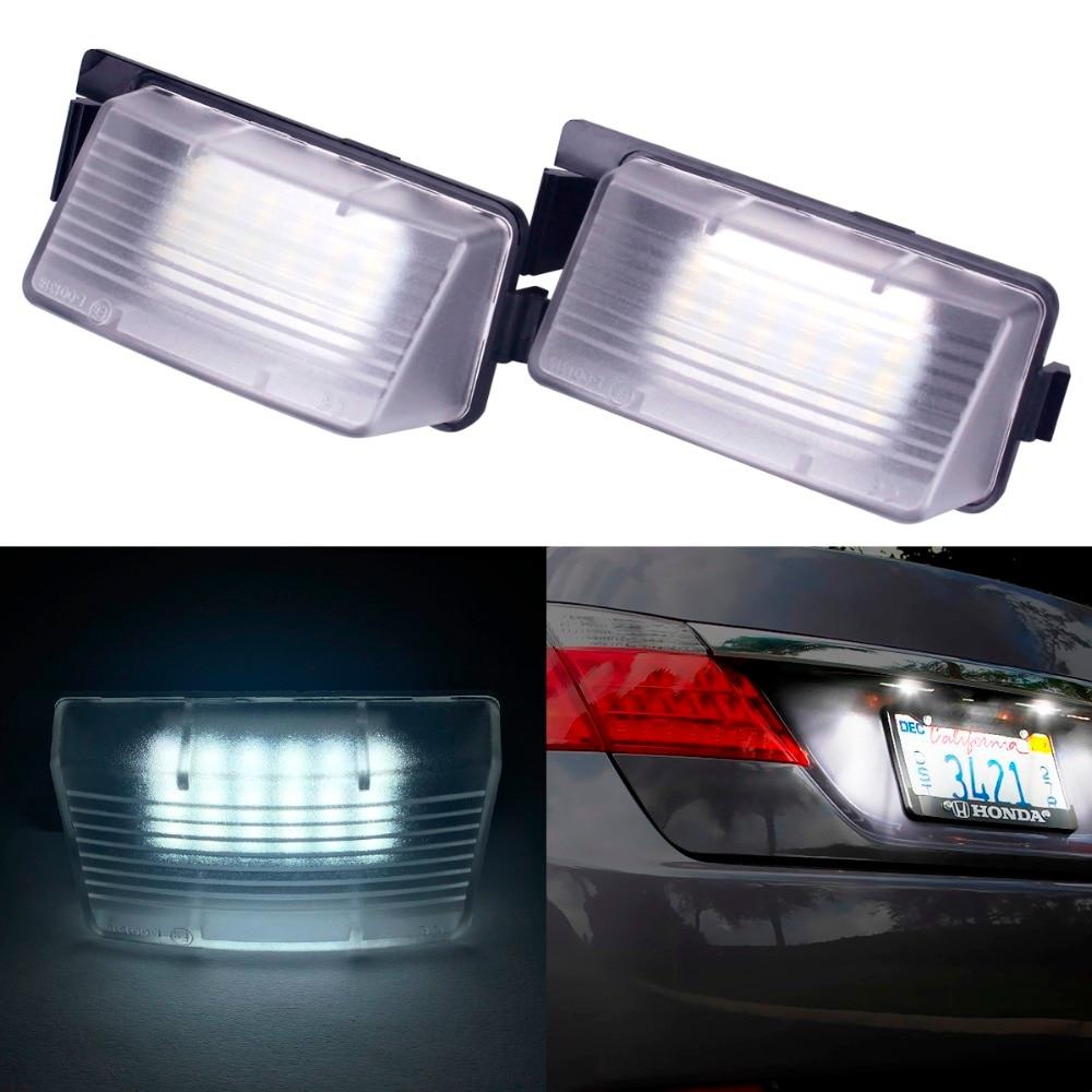 2Pcs White LED License Plate Light Replacement For NISSAN 350Z 370Z GTR For INFINITI G25 G35 G37