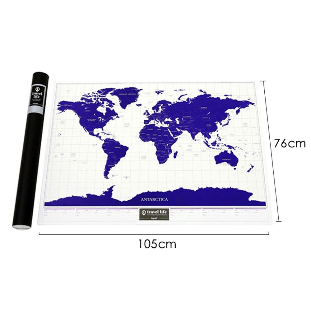 Surdimensionné lumineux vacances National géographique carte à gratter du monde carte du monde à gratter personnalisé affiche de carte du monde