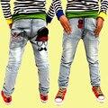 Hot-selling Primavera novas crianças meninos de roupas selvagens calças de brim do bebê crianças calças, crianças jeans rasgados + crianças calça jeans + calça jeans meninos