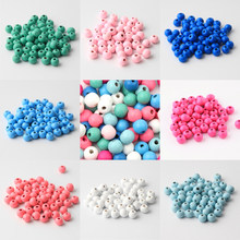 Wooden Beads High Qualit Color 6/8/10/12/14mm Spacer Beading Wood Beads For Pacifier Clip Jewelry Findings Making DIY Necklace(China)