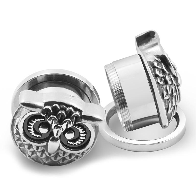 ⓪ear expanders body piercing jewelry ᗐ silver