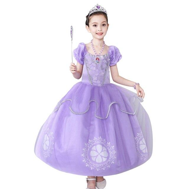 fd7444a06f Vestidos de Meninas crianças vestido de princesa sofia Crianças Roupas Para  A Menina de vestido de