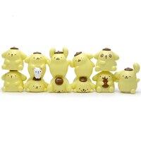 11 pcs/lot DIY 2-4 cm Pom Pom Purin Jenga Jouets Mini Action PVC Figure Jouet Micro Paysage De Noël Cadeaux pour Enfants Drôle et Jeu