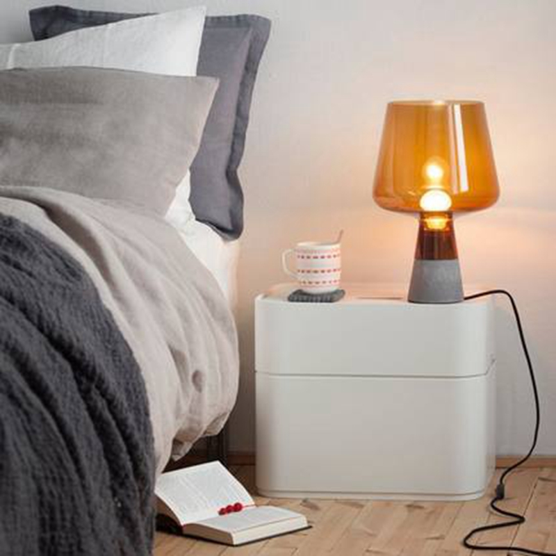 LukLoy Nordic Simple Cement Table Lamp Personality Bedroom Bedside Lamp Creative Living Room Study Glass Decorative Table Light nordic creative table lamp for bedroom bedside simple personality desk reading decorative led table lamp