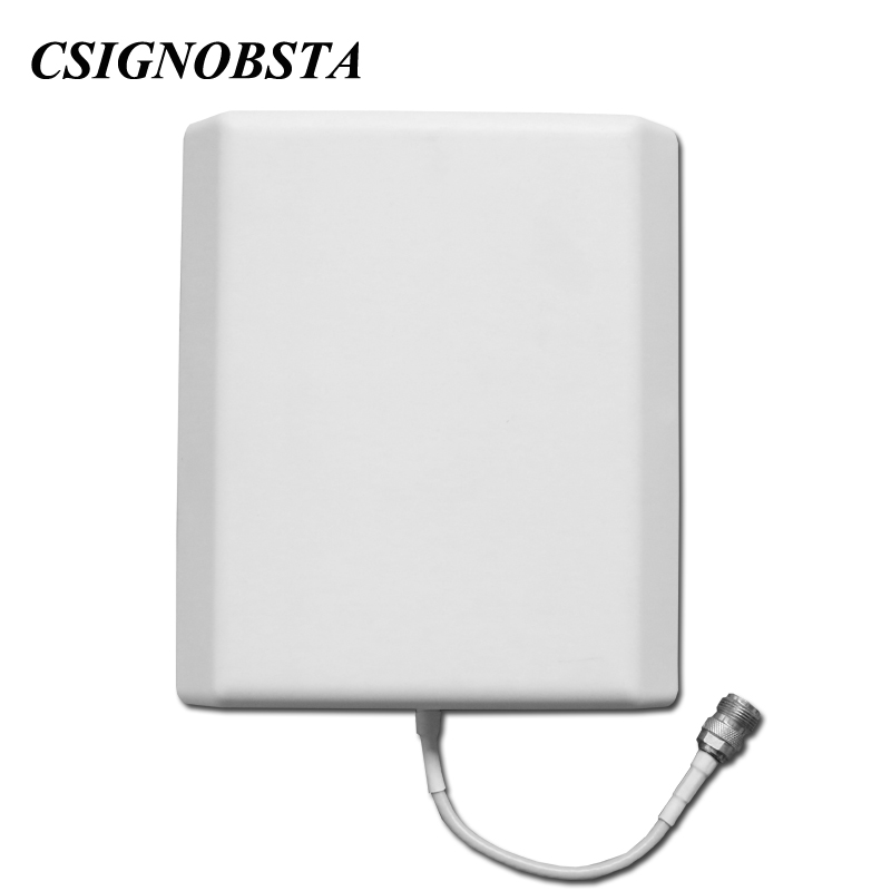High Gain 8dbi 800-2500 Mhz Indoor Panel Antenna With N Connector For Mobile Phone Cdma Gsm Dcs Wcdma Amplifier For Indoor Use