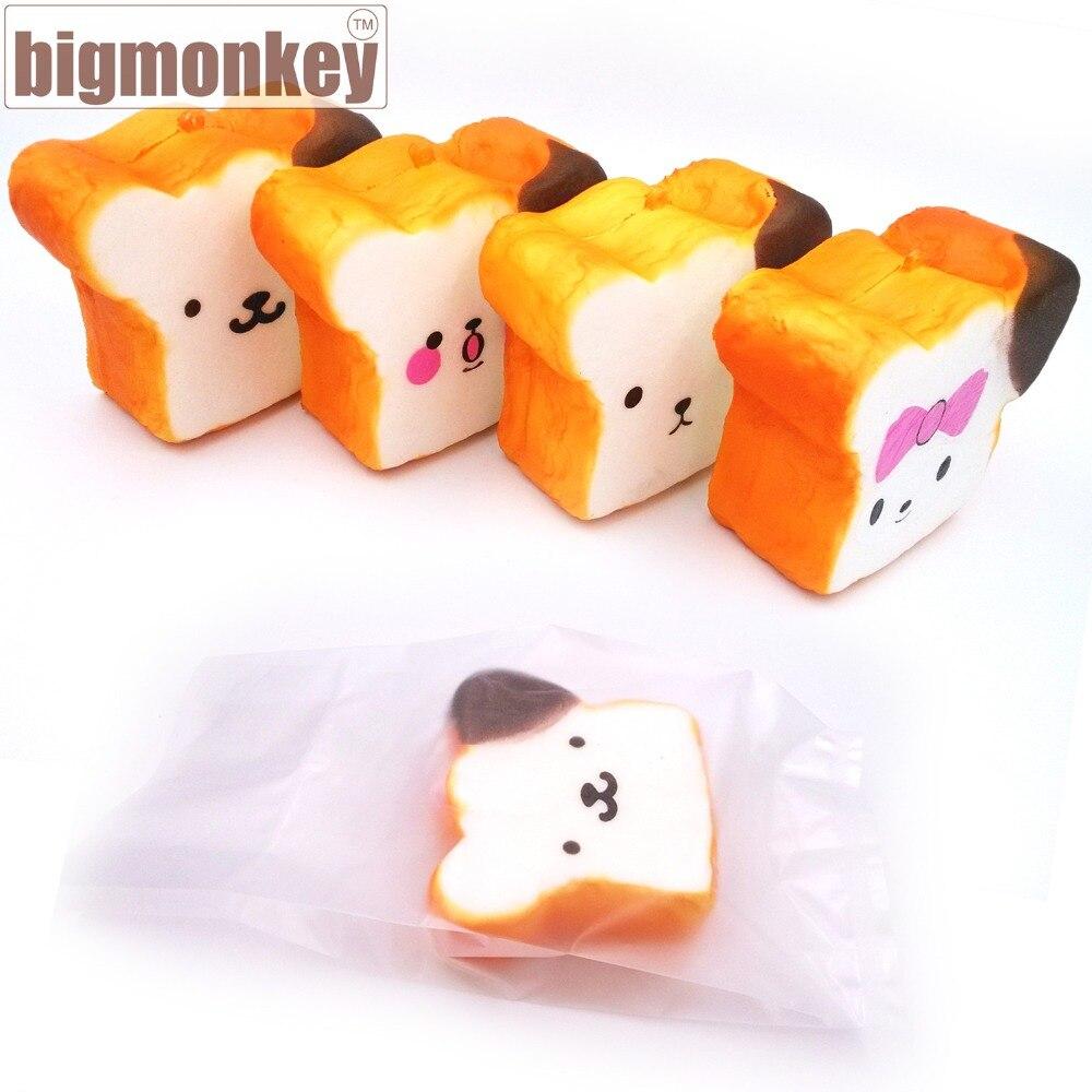 bilder für Großen affen heißer verkauf 20 stücke kawaii expression squishy jumbo für rilakkuma squishy toast langsam steigenden squeeze spielzeug 10 CM