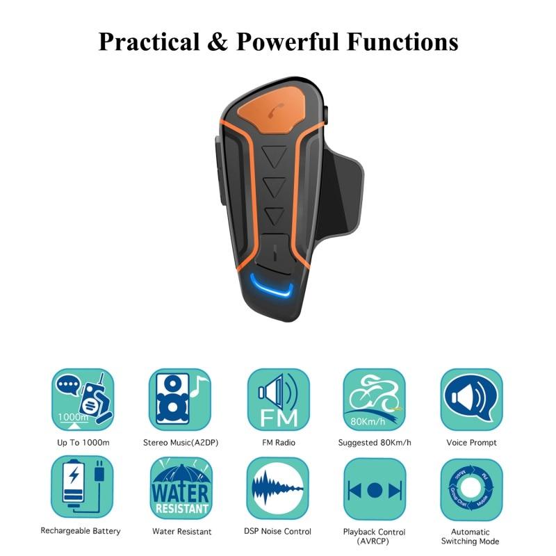 New Bluetooth Helmet Anti-interference For Motorcycle Helmet Riding Hands Free Headphone Motorcycle Bluetooth Intercom