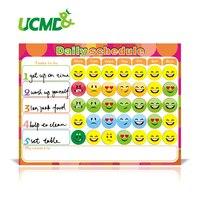 Ímã seca Apagar Planejador Semanal Criativo To-Do List Crianças Gráfico Recompensa Cronograma Magnética 40X30 Cm