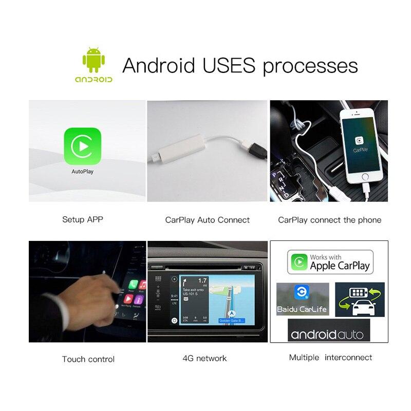 Nouvelle génération USB CarPlay Dongle pour Android multimédia GPS Radio avec micro intégré Siri commande vocale CarPlay et Android Auto - 3