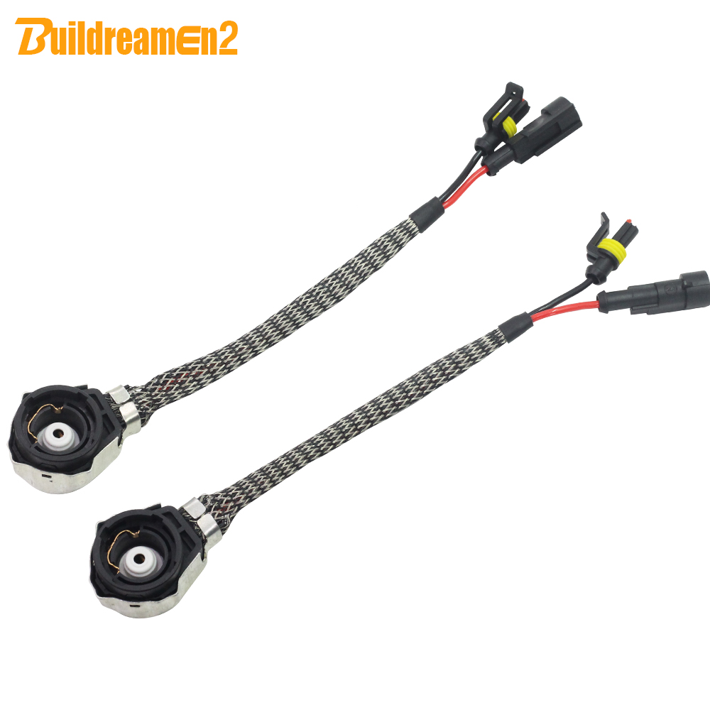 Buildreamen2 2 X Car HID Harness Wring Converter AMP Plug