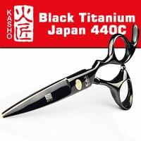 2016 Kasho Titanium Hairdresser S Scissors Japan 440C Professional Hairdressing Scissors For Cutting Hair Shears Set