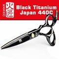 Japón 440c Kasho tijeras para Peluquerias Barbero tienda de suministros de titanio profesional de peluquería tijeras para cortar el cabello