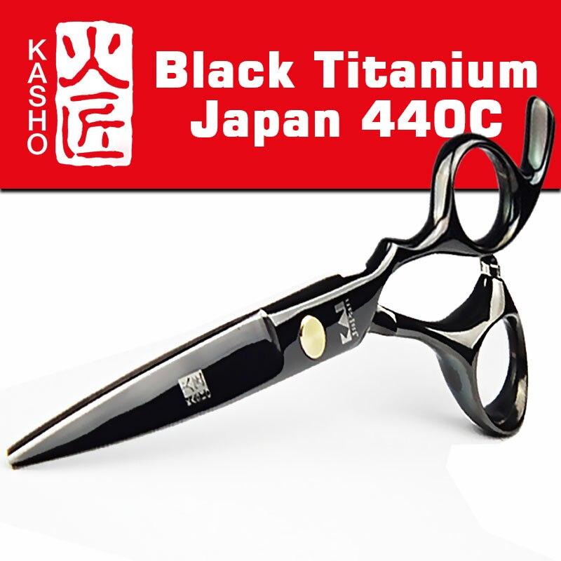 Japan 440c Kasho Schere für Friseure Barber Shop Liefert Titan Friseur Schere für Schneiden Haar