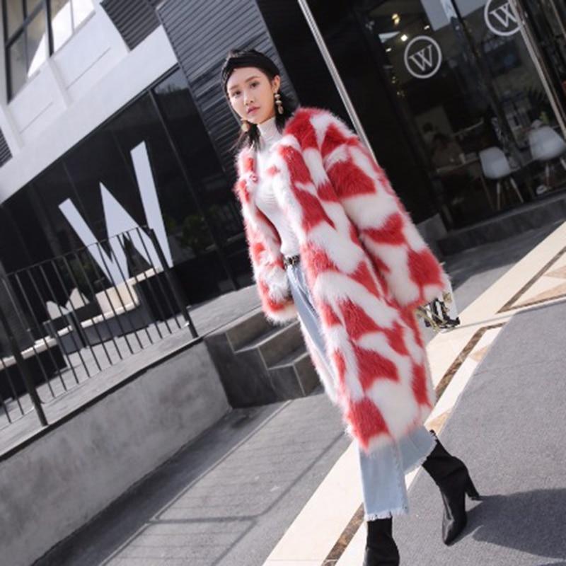 Women Fur Coat Winter Women Long Coats Furry Luxury Loose Womens Fake Fur Jacket High Quality