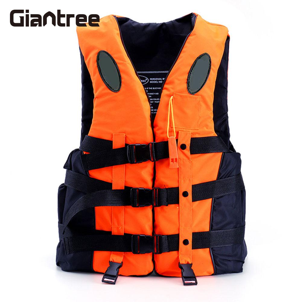 Outdoor Sport Fishing Life Vest Breathable Oxford cloth Swimming Life Jacket Safety Survival Waistcoat with Whistle