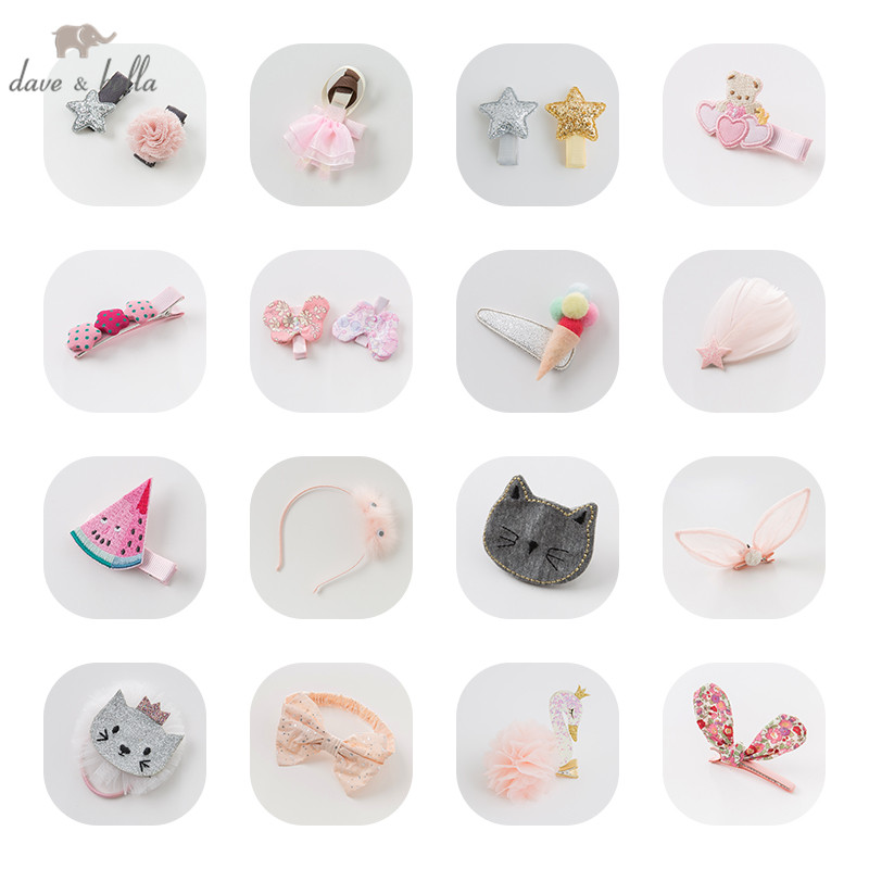 Davebella Girls All Kinds Of Headwear Colorful Barrettes Girls Cute Headwear