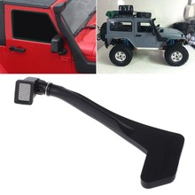 1:10 RC Crawler Zwart Rubber Safari Snorkel voor Axiale SCX10 RC4WD D90 Jeep Wrangler Rubicon Body Shell(China)