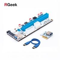 New White PCI E Riser 008 Express 1X 4x 8x 16x Extender PCI E USB Riser