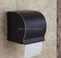Modern Black Oil Rubbed Bronze Bathroom Toilet Roll Holders Box Wall Mounted Wba302