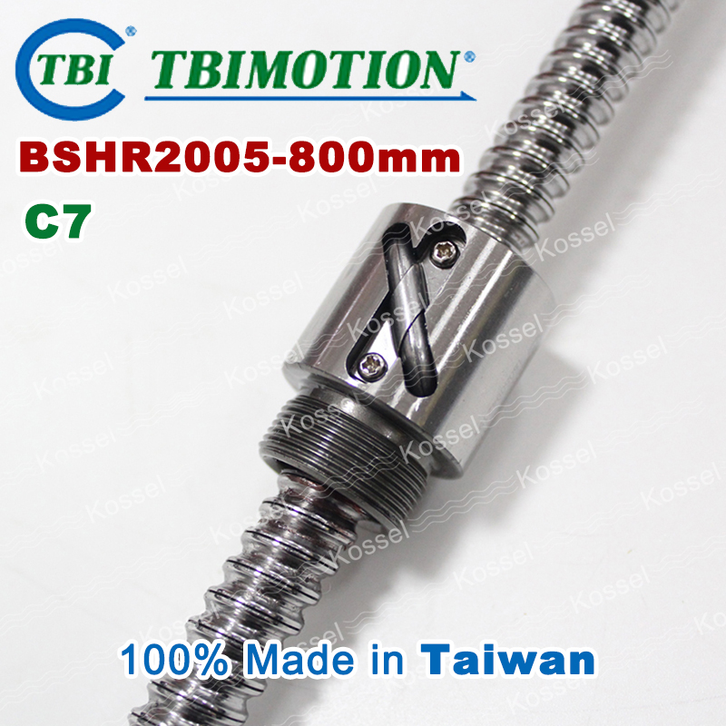 TBI Ball screw 2005 C7 800mm with 5mm Lead Without Flange Ballnut BSH2005 for CNC kit горелка tbi sb 360 blackesg 3 м