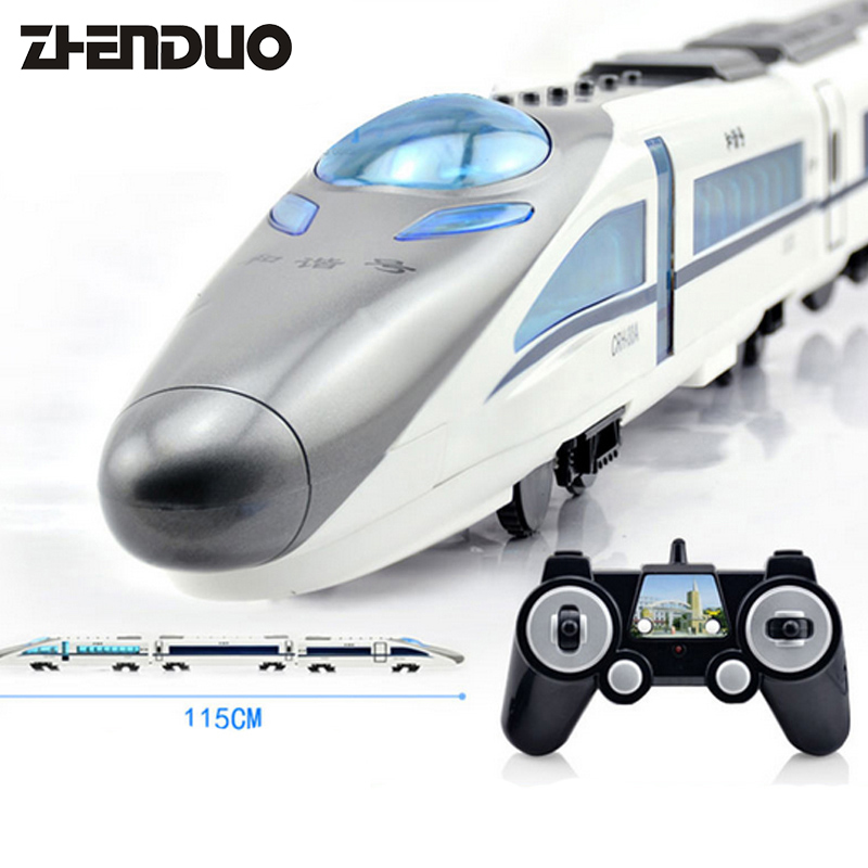OriginalPacking RC Remote Control Car Omni-directional Voice High-Speed Train locomotive Simulation Track Rechargeable Child