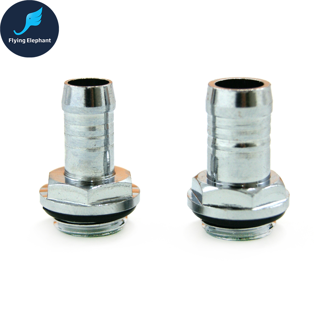 2 Pcs G1/4'' Water Cooling Flexible Hose Tubing Fitting Connector For ID 6-10mm Soft Water Pipe Fitting