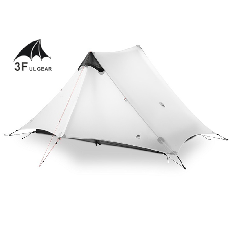 3F UL GETRIEBE 2 Menschen Oudoor Ultraleicht Camping Zelt 3 Saison 1 Einzigen Person 15D Nylon Silicon Beschichtung Kolbenstangenlosen zelt