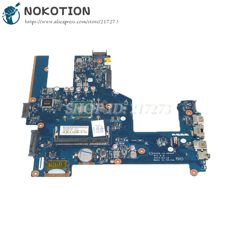 NOKOTION 788287-501 788287-001 Laptop Motherboard For Hp 15 15-R 15T-R 15-S ZSO50 LA-A994P DDR3 with cpu onboard nokotion zso50 la a994p 788289 501 788289 001 for hp compaq 15 15 r 15t r 15 s motherboard sr1yj n2840 cpu onboard
