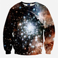 2016 Spring New Harajuku Sweatshirt Women/Men Space Galaxy Printed Hoodies Casual Crewneck Pullover Tops Brand Design Clothing