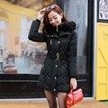 2016 Плюс Размер Нового Прибытия Теплая Вниз и Парки Длинные рукав Кнопка Молнии С Длинным Стиль Пиджаки Толстые Зимняя Куртка Женщин пальто