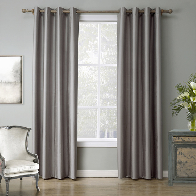 Aliexpress.com : Buy Light Grey Window Curtains tube curtain for ...