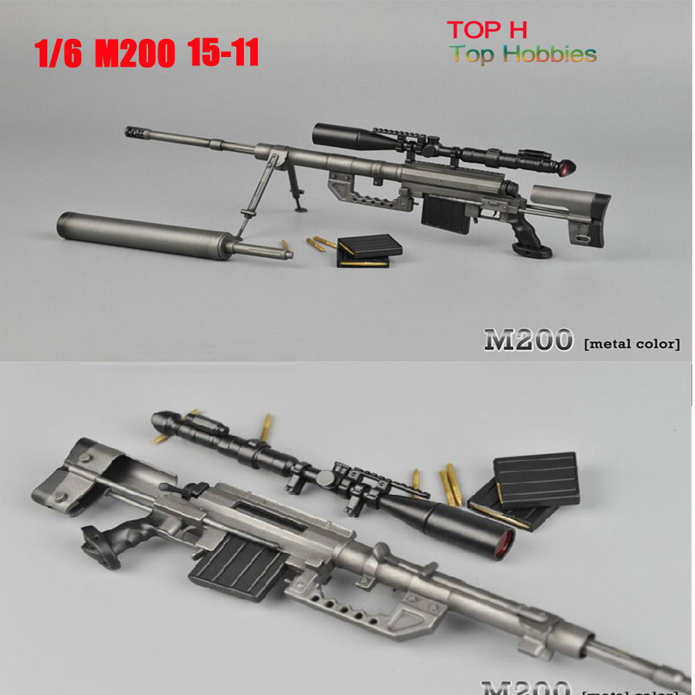 Brand New 1/6 Scale Weapon Model Toys Barrett M200 ZY15-11 Sniper Rifle Model For 12'' Action Figure Toy Accessories brand new 1 6 scale fast