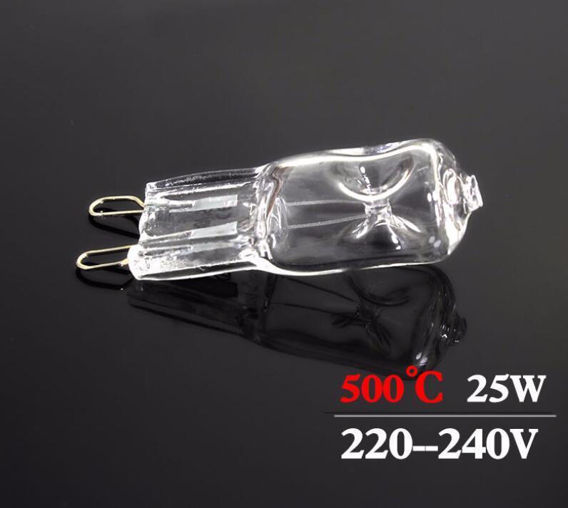 1 шт. лампочка для духовки G9 высокотемпературная лампочсветильник отпаривателя лампочка для духовки G9 220-240 В 25 Вт 500 градусов