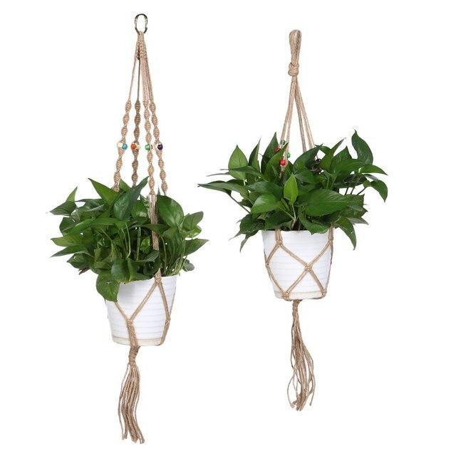 acheter main hanger plantes pot de fleur porte pot de jardin de levage corde. Black Bedroom Furniture Sets. Home Design Ideas