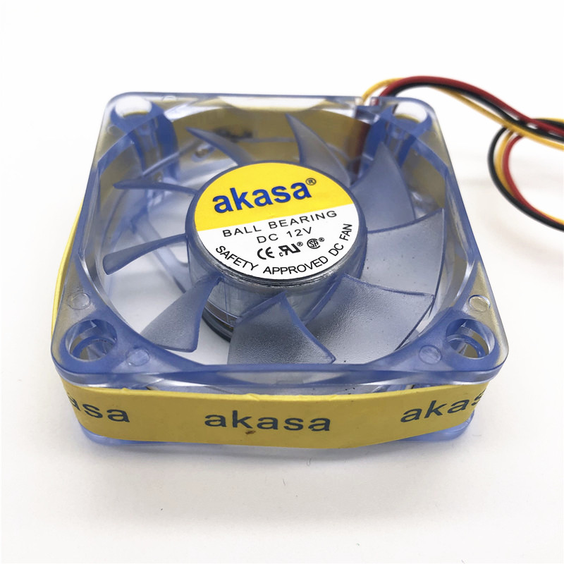 AKASA Led cooling fan 60MM 6CM 60 60 20MM Cooling fan DC12V 2 5W ball bearing computer case LED fan with 3pin 5PCS in Fans Cooling from Computer Office