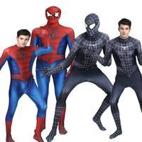 Spiderman Costume 3D Shade Spandex Fullbody Halloween Cosplay Spider Man Superhero Costume For Adult Kids 2017