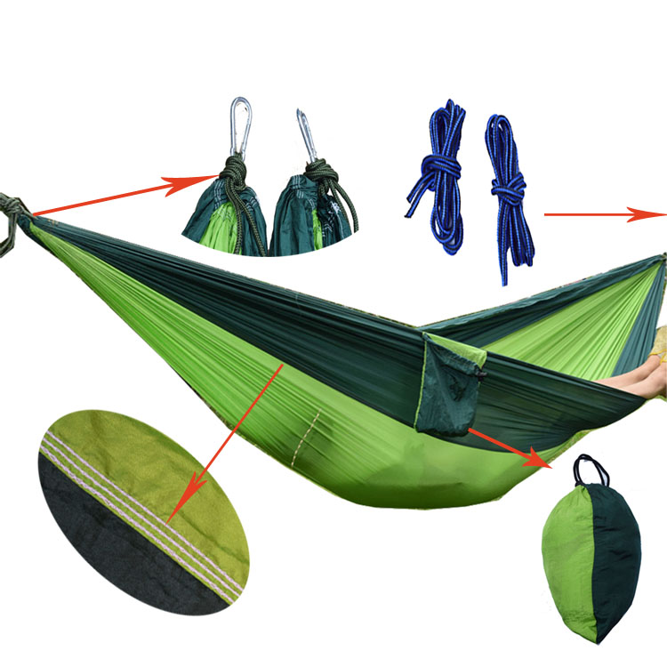 shihao Portable Nylon Parachute Double Hammock Garden Outdoor Camping Travel Furniture Survival Hammock Swing Sleeping Bed Tools цены онлайн