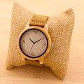 Bobobird Womens Casual Antigo De Bambu Redonda De Madeira Relógios Com Pulseira De Couro de Senhora Relógios Top Marca de Luxo Relógio de Pulso