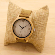 Bobobird Womens Casual Antique Round Bamboo Wooden Watches With Leather Strap Lady Watches Top Brand Luxury Wrist Watch