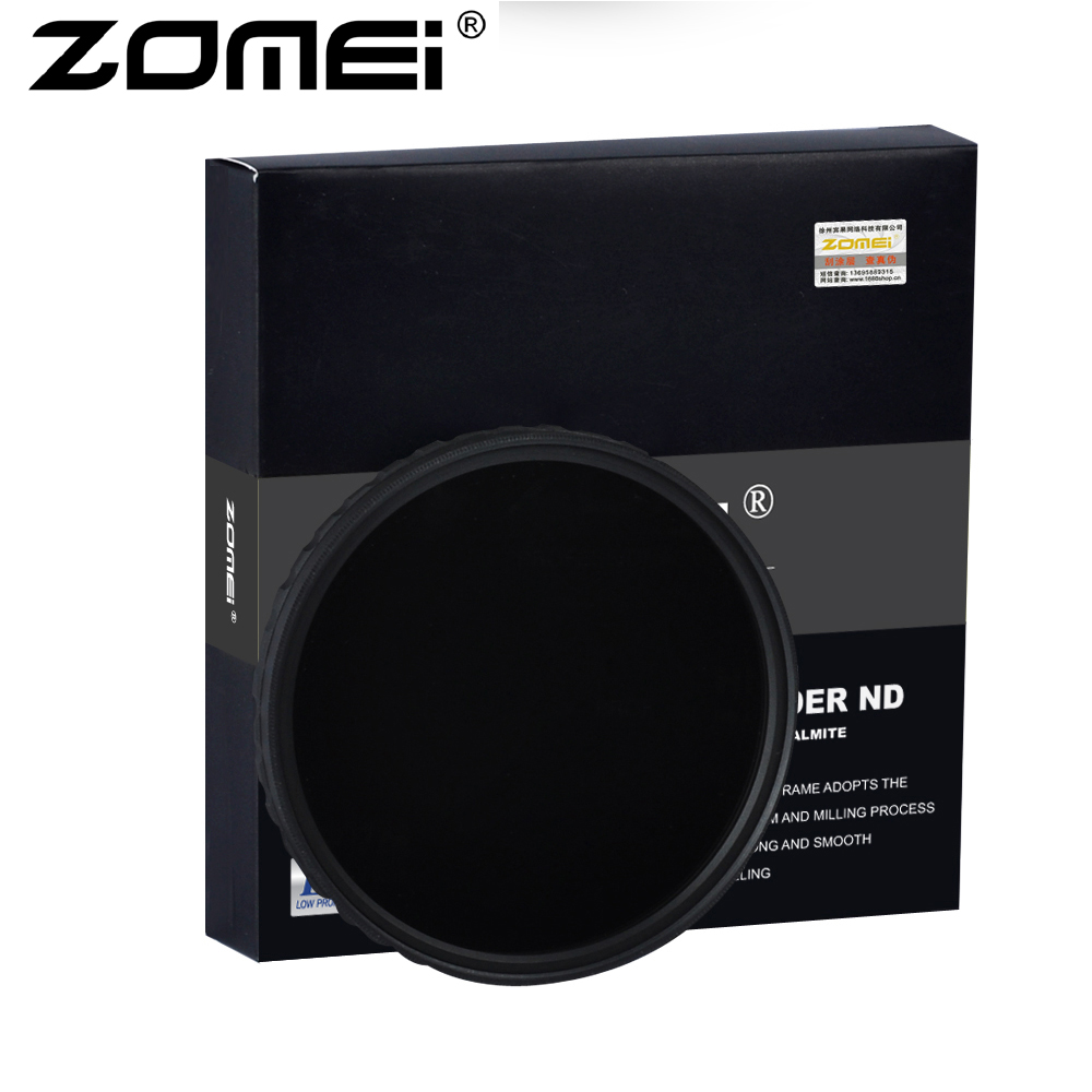 ZOMEI Ultra HD Fader ND2-400 Filtre U HD-W Allemand Verre Réglable Densité Neutre Variable Camera Lens 52-82mm