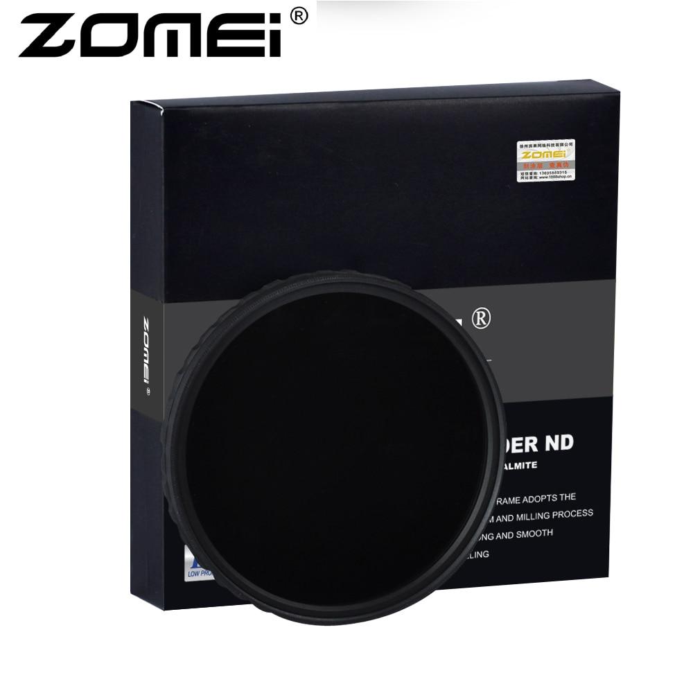 ZOMEI Ultra HD Fader ND2-400 Filtro U HD-W Vetro Tedesco Regolabile Variable Neutral Density Camera Lens 52-82mm
