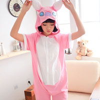 In The Summer Of Cartoon Animal Siamese Pajamas Cotton Short Sleeved Men And Women Cute Couple