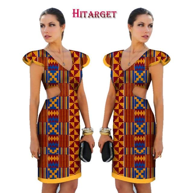 Us 37 46 18 Off Aliexpress Com Beli 2019 Baru Gaun Afrika Untuk Wanita Ankara Lilin Printing Kain Batik Dresses Fashion Printing Lengan Pendek Gaun